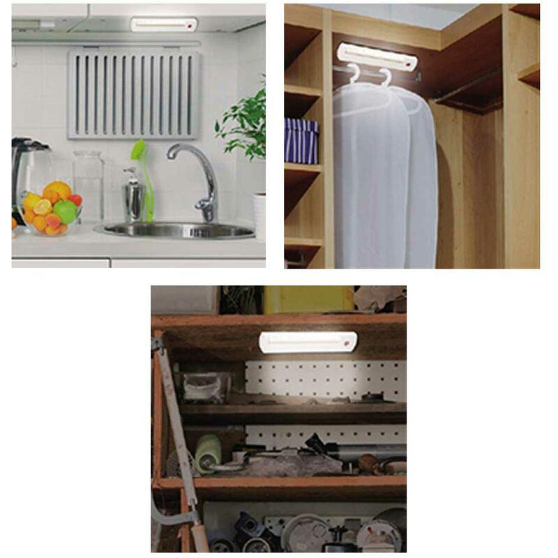 Bakaji - Lampada Faretto 8 LED + Telecomando Wireless Luce Notte Armadio Mobili Grundig
