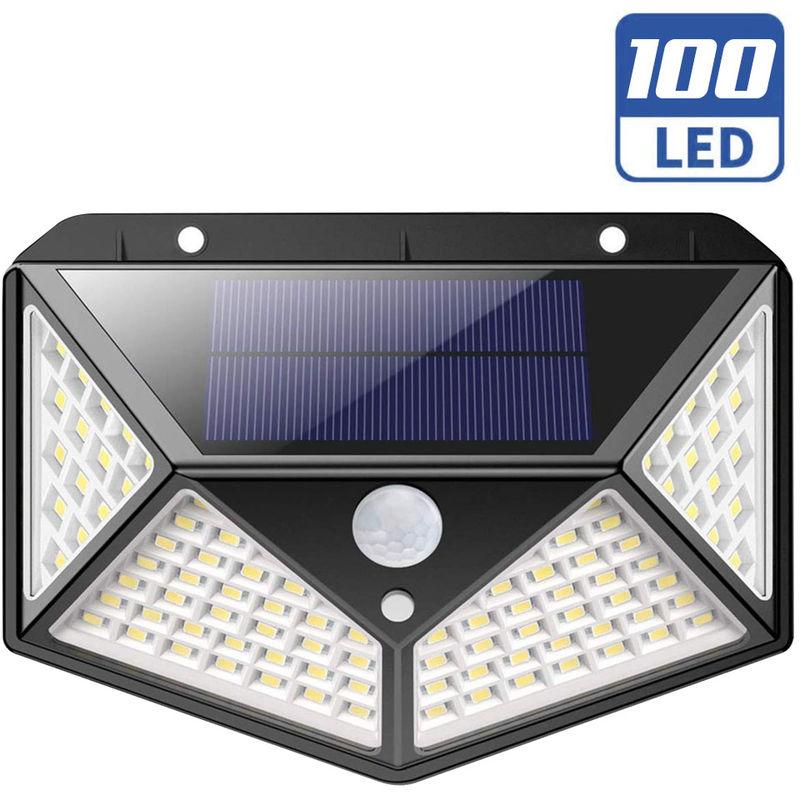 Lampada Faro LED Solare Faretto Sensore Movimento Luce Esterno Giardino 1000lm