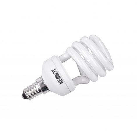 lampada fluorescente Compatte ZAR0293 semi-espirales, 12W, E14, 2700K