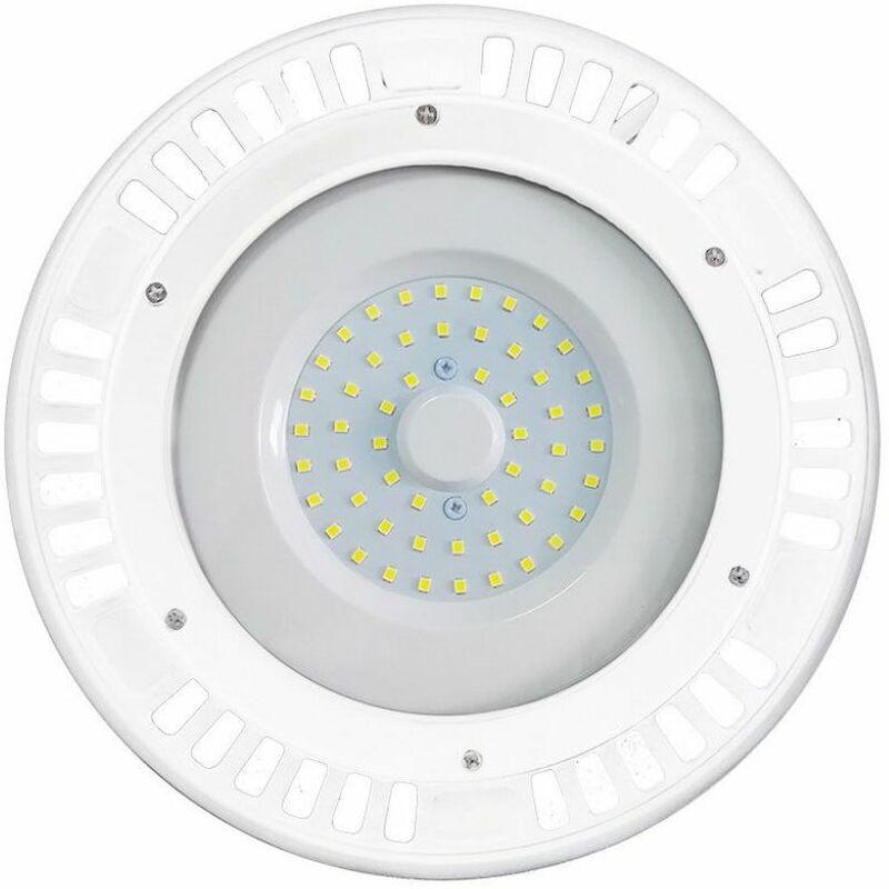 Campana Industriale LED V-TAC SMD 50W UFO Colore Bianco 120° 3000K IP44