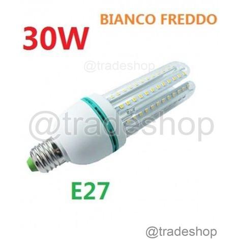 Lampada lampadina led 30w luce fredda basso consumo e27 for Lampadine basso consumo led