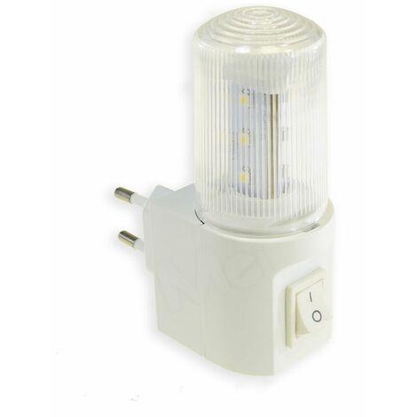 Lampada lampadina notturna 1w punto luce soffusa led interruttore ON OFF