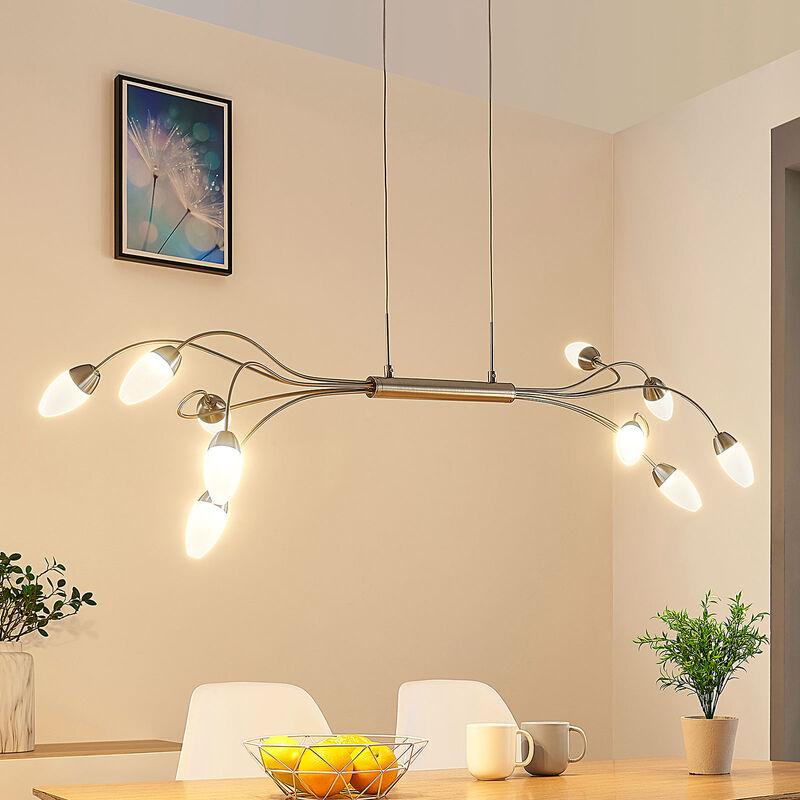 Lampada LED a sospensione Deyan a 10 luci - LAMPENWELT