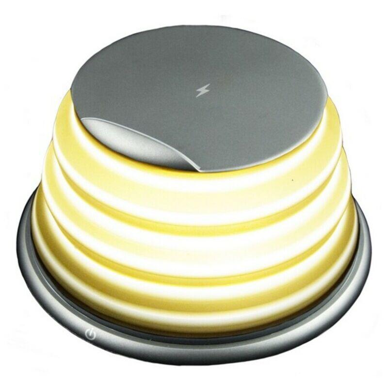 Lampada LED con Caricabatterie Senza Fili per Smartphone KSIX Qi