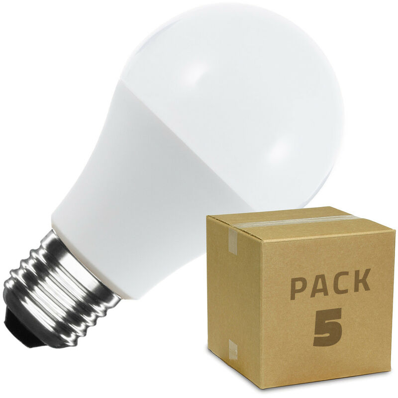 Pack Lampadina LED E27 A60 5W (5 Un.) Bianco Caldo 2800K - 3200K