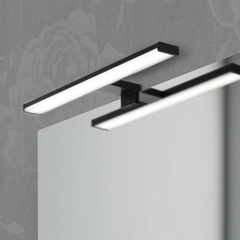 Inbagno - Lampada Led Per lo Specchio Colore Nero Opaco 40cm da 8w