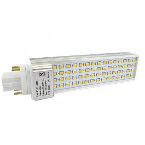 Lampada LED PLC GX24 G24 4 Pin 12W 220V Bianco Caldo Con 60 Smd 2835