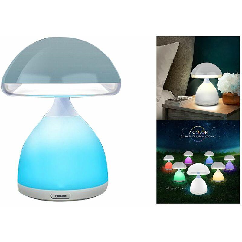 Lampada led rgb a fungo senza fili colori cromoterapia comodino 7 colori HC 868
