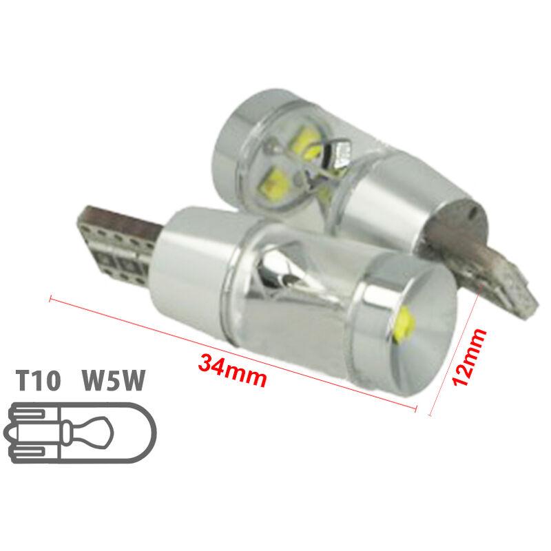 LEDLUX LS1091 Lampada Led T10 W5W 12V 9W Canbus Pro 3 Cree XBD Da 3W Con Cono Riflettore Bianco No Errore