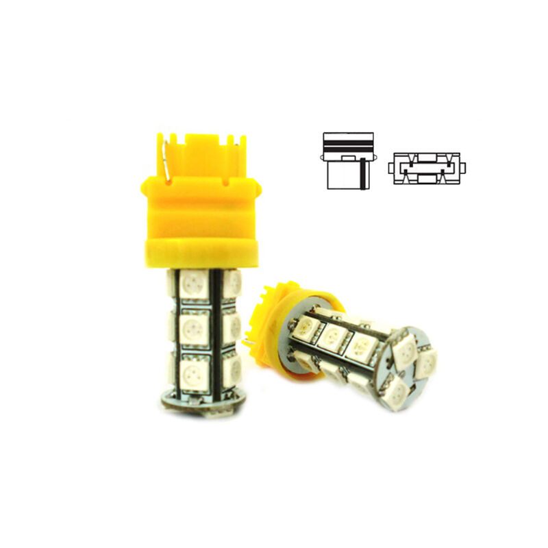 LEDLUX LS6218 Lampada Led T25 3156 P27W 18 Smd 5050 Arancione 12V Auto W2.5x16d