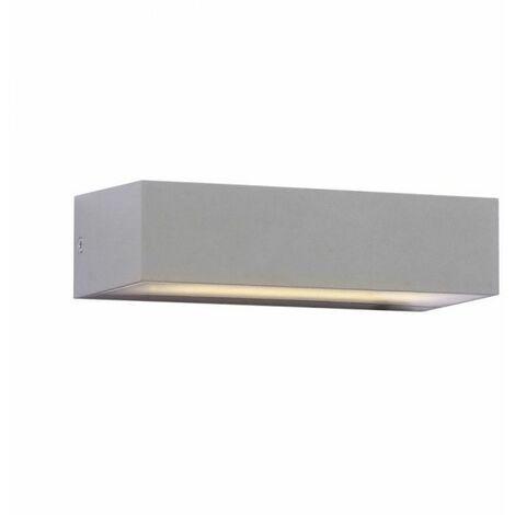 """main image of """"Lampada LED da Muro Rettangolare 9W Doppio Fascio Luminoso Colore Grigio IP65"""""""