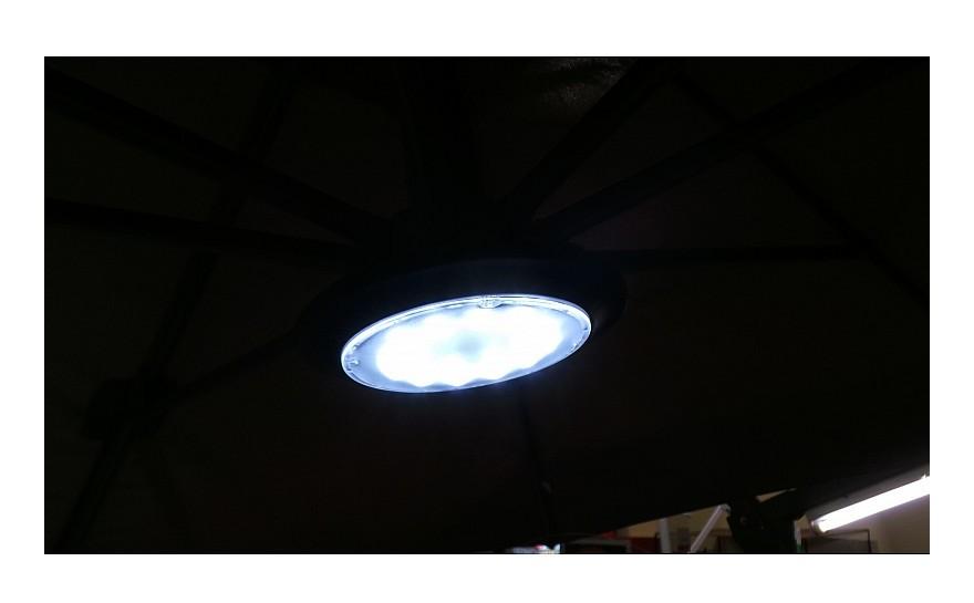 Lampada luce led con telecomando per ombrelloni da giardino