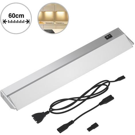Lampada Luce Sottopensile 60cm Mobili Cucina Armadio Barra 60 LED in Alluminio
