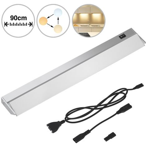 Lampada Luce Sottopensile 90cm Mobili Cucina Armadio Barra 90 LED in Alluminio