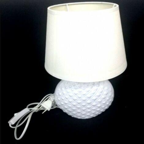 LAMPADA LUME 32 CM BIANCO CON PARALUME DA TAVOLO SCRIVANIA
