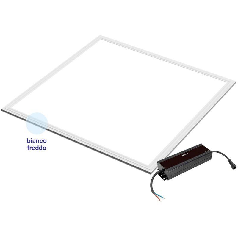 Lampada Pannello Led Luminoso Quadrato 60X60Cm 48W Plafoniera Incasso Luce Fredda