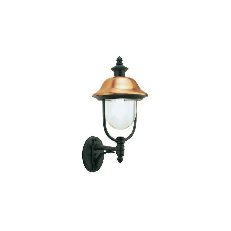 Lampada Applique In Alto Color Grigio E Rame Da Esterno Linea Rustica Sovil
