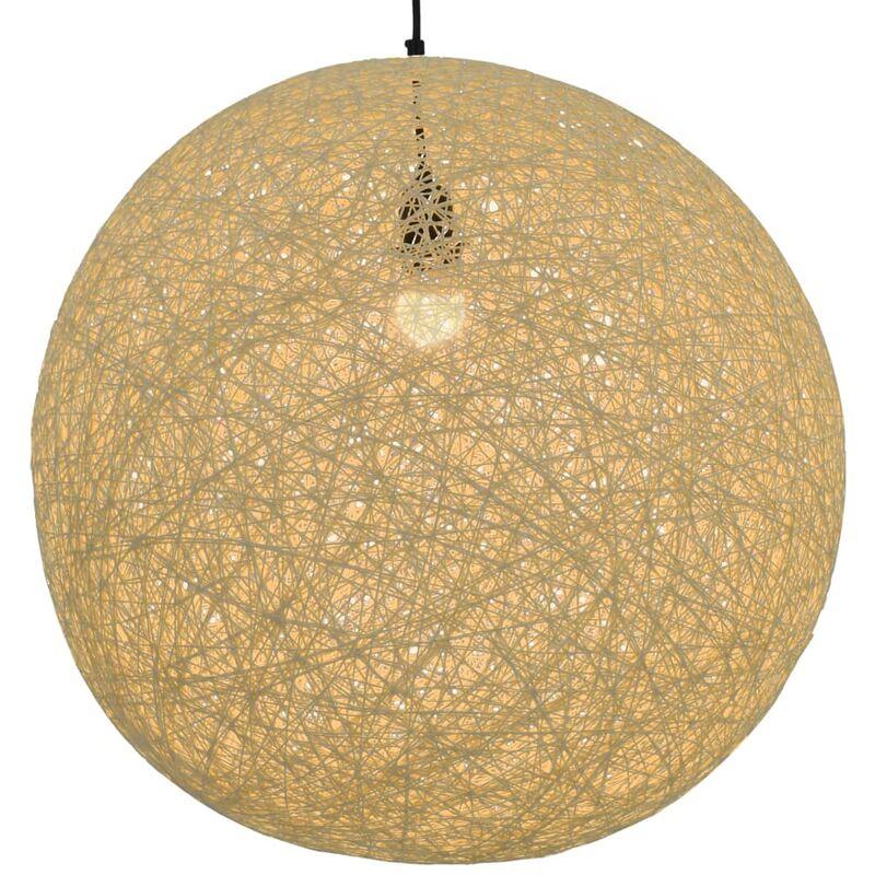 vidaXL Lampada Sferica a Sospensione Crema 55 cm E27 - crema