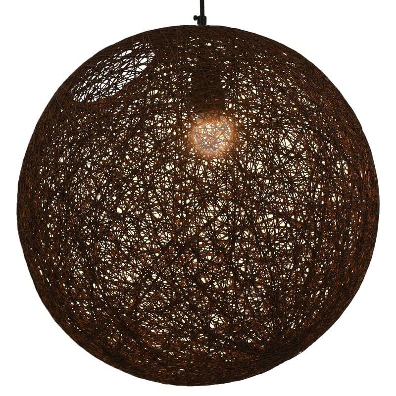 Lampada Sferica a Sospensione Marrone 45 cm E27 - Marrone - Vidaxl