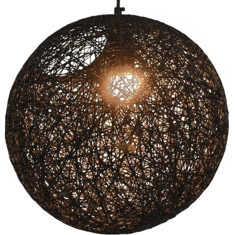 vidaXL Lampada Sferica a Sospensione Nera 35 cm E27 - Negro