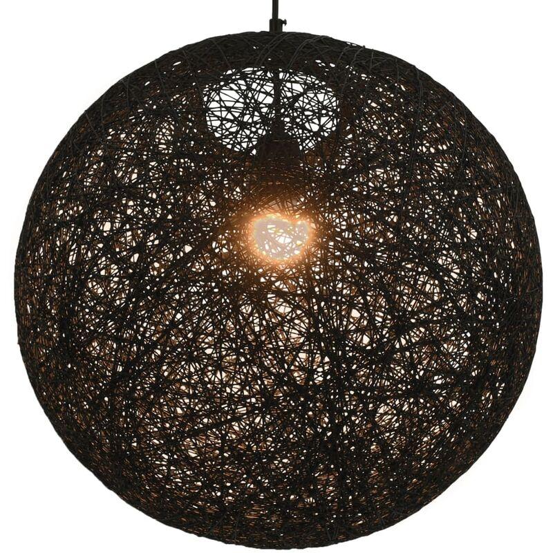 vidaXL Lampada Sferica a Sospensione Nera 45 cm E27 - Negro