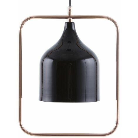 Lampada soffitto di metallo nero MAVONE