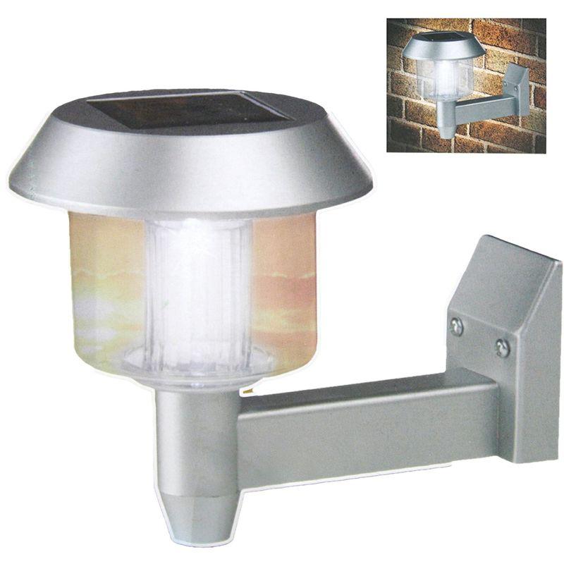 Lampada da Parete con Illuminazione a Led Alimentazione ad Energia Solare Grigio - OUTDOOR LIGHTS