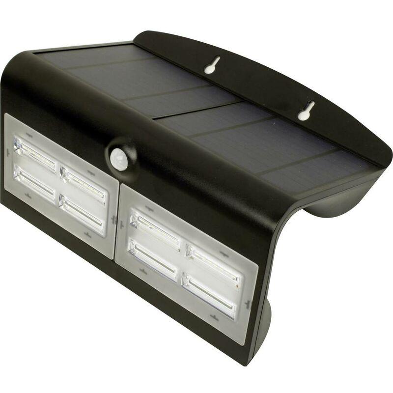 Wave L MT70004 Lampada solare da parete per esterno con rilevatore di movimento 6.8 W Nero - Megatron