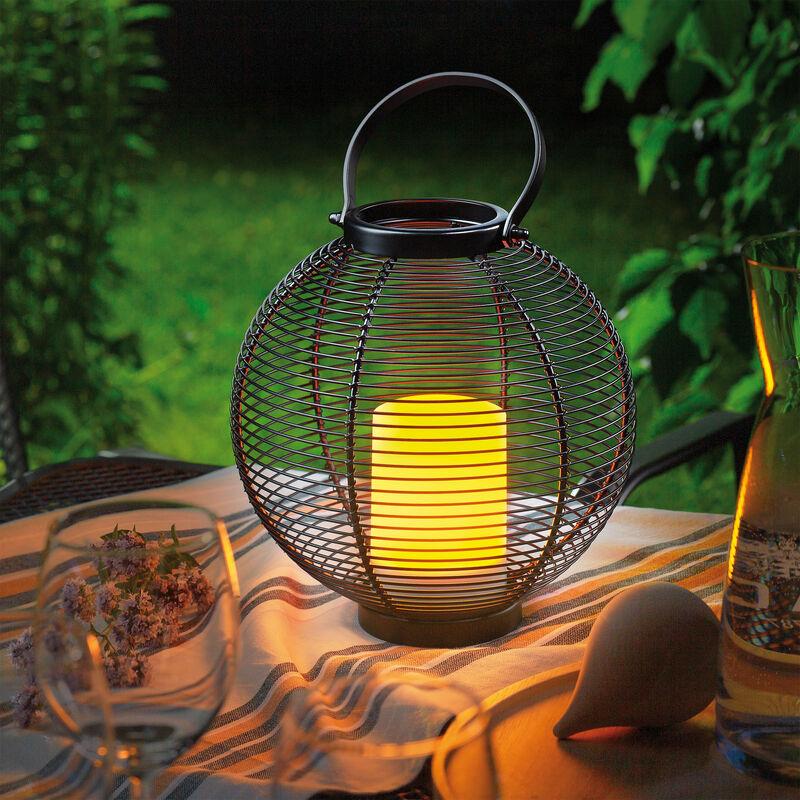 Lampada solare decorativa da 23 cm. Lampada da giardino. Lanterna solare da esterno esotec 102213