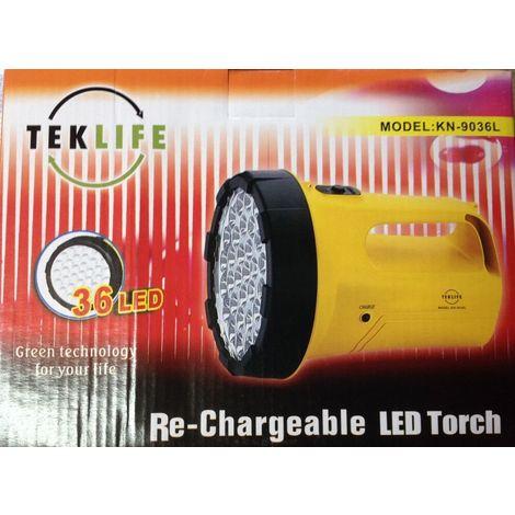 CARICABATTERIA Lanterna torcia ricaricabile professionale LED LUCE D/'EMERGENZA
