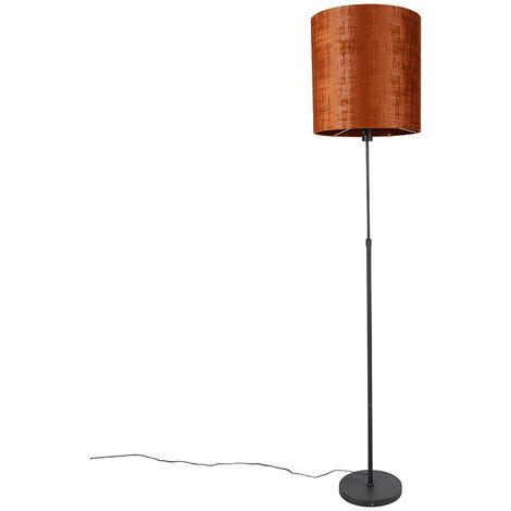 Lampadaire abat-jour noir rouge 40 cm orientable - Parte Qazqa Moderne Luminaire interieur