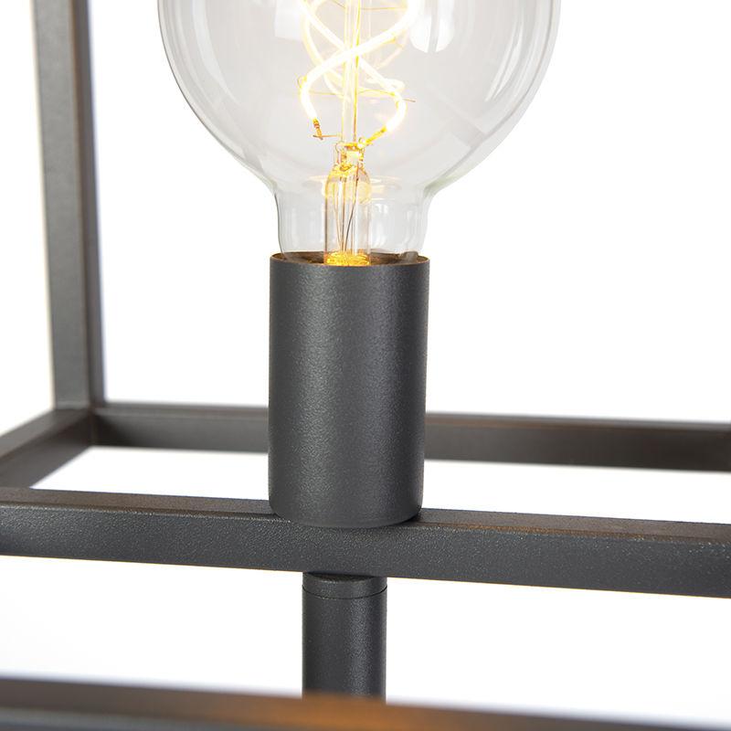 Cubique Gris Vintage Industriel Foncé Antracite Luminaire Lampadaire Graphite Cage Interieur Qazqa nON8X0wPZk