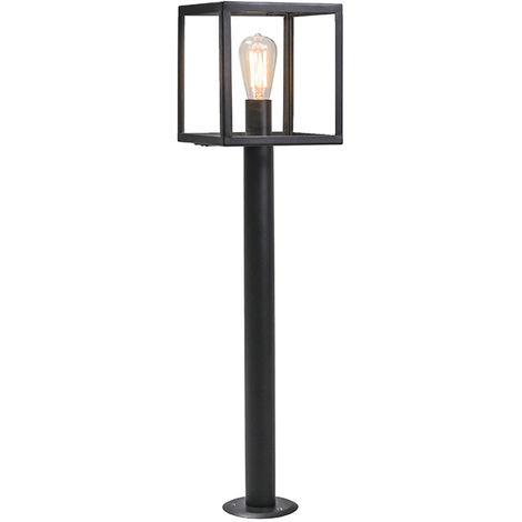 Lampadaire de jardin Moderne noir 100 cm - Rotterdam Qazqa Moderne Luminaire exterieur cube