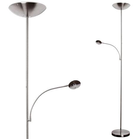 Lampadaire DEL luminaire sur pied lampe LED métal bras flexible éclairage chambre
