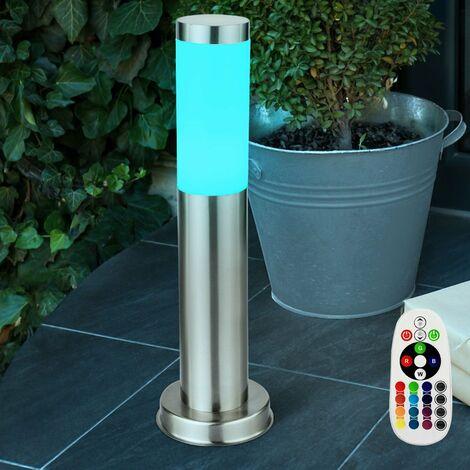 Lampadaire DEL RVB luminaire sur pied lampe LED jardin terrasse changeur de couleur