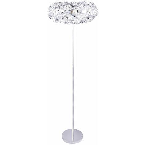 Lampadaire design chrome spot salon salle à manger éclairage fleurs fleurs stand clair clair Globo 51500S