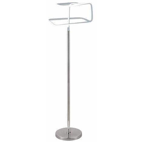 Lampadaire design et original LED angulaire - SQUARE - Gris