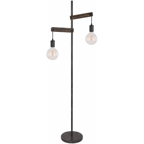 Lampadaire design luminaire éclairage noir mat salon chambre cuisine bureau