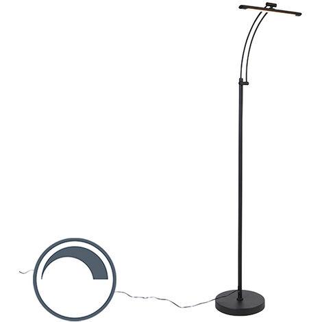 Chambre /à Coucher,Noir CRAZCALF Lampadaire RGB Couleur LED Lampadaire Salon D/écoration de Style Minimaliste Moderne pour Salon Lampadaire LED Luminosit/é R/églable avec T/él/écommande Right Angle Base