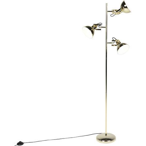 Lampadaire Design or 3 lumières - Tommy Qazqa Design Luminaire interieur Rond