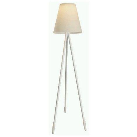 Lampadaire d'extérieur blanc 150 cm GUARDA - L 60 x l 60 x H 150