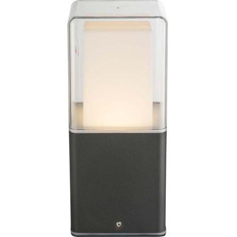 Lampadaire d'extérieur LED sur pied support de terrasse ALU verre de jardin noir Globo 34575