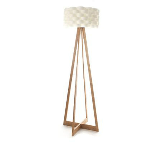Lampadaire en bambou et papier - Dim : H 150 x D 50 cm