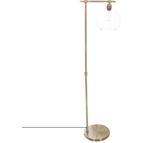 Lampadaire en métal vintage Jody - H. 150 cm - Couleur bronze