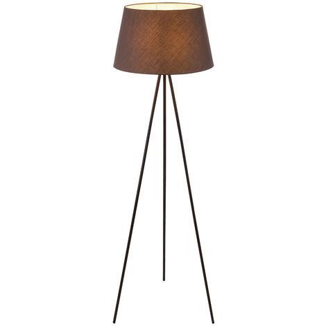 Lampadaire en textile, trépied, gris, H 154,5 cm MASAYA
