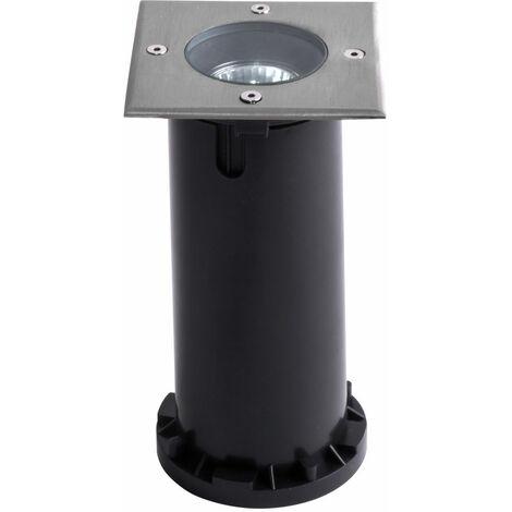 Lampadaire encastré, acier inoxydable, plastique, IP67, H 15 cm, LIAM