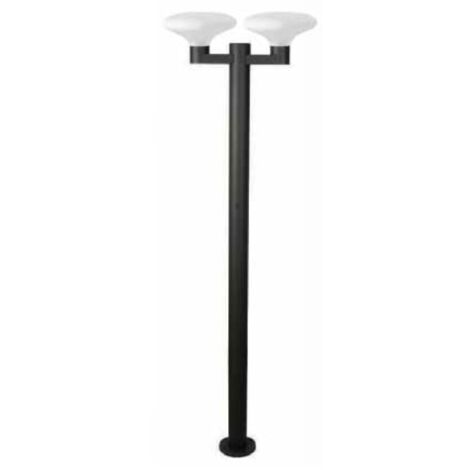 Lampadaire extérieur 2 lampes design Faro Bulb's Gris anthracite fonte d'aluminium 74435+2x74430