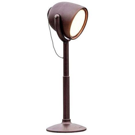 Lampadaire extérieur 220 cm spot 130° finition oxydée Hollywood MYYOUR - Cuivre - Utilisable en Intérieur et Extérieur. - Tête pivotante à 130° - Cuivre