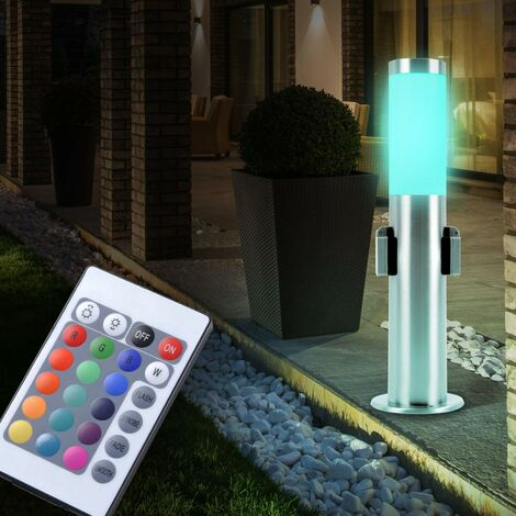 Lampadaire extérieur LED RVB luminaire sur pied lamep terrasse projecteur distributeur télécommande
