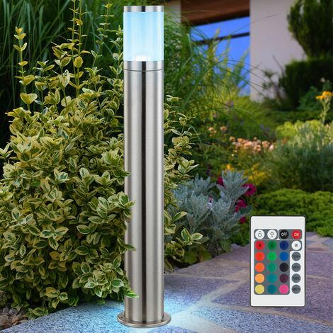 Lampadaire extérieur robuste DEL RVB luminaire sur pied lampe LED acier inoxydable jardin terrasse